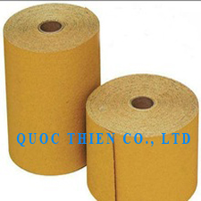 Abrasive paper roll for polishing